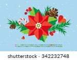 flat style cartoon new year... | Shutterstock .eps vector #342232748