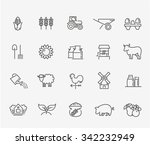 agriculture and farming icons | Shutterstock .eps vector #342232949