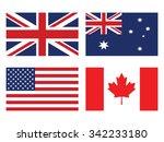 flag set  united states of... | Shutterstock .eps vector #342233180
