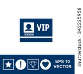 vip badge vector icon