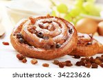 Sweet Pastry Rolls With Raisins