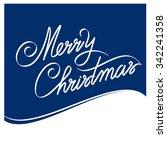 merry christmas hand lettering  ...   Shutterstock .eps vector #342241358