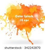 headline color splash orange... | Shutterstock .eps vector #342242870