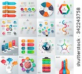 Business infographic template set. Vector illustration. Can be used for workflow layout, banner, diagram, number options, web design, timeline elements | Shutterstock vector #342243758
