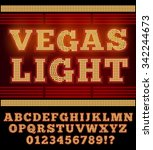 vegas casino or retro broadway... | Shutterstock .eps vector #342244673