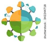 illustration of cartoon earth... | Shutterstock .eps vector #342244718