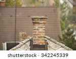 chimney on a roof of a house | Shutterstock . vector #342245339
