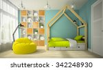 interior of modern design room... | Shutterstock . vector #342248930