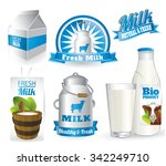 fresh natural milk graphics... | Shutterstock .eps vector #342249710
