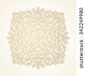 vector vintage pattern in... | Shutterstock .eps vector #342249980