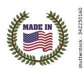 usa emblematic seal design ... | Shutterstock .eps vector #342250160