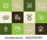 farm icon | Shutterstock .eps vector #342250490