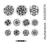 mandala. amazing flower mandala ... | Shutterstock .eps vector #342250574