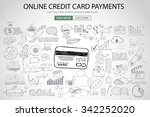 online credit card payment... | Shutterstock .eps vector #342252020