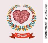 brain thinking design  vector...   Shutterstock .eps vector #342252350