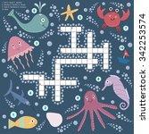 crossword for children about... | Shutterstock .eps vector #342253574
