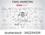 email marketing with doodle... | Shutterstock .eps vector #342254339