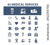 medical and health care  icons  ... | Shutterstock .eps vector #342254750