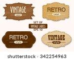 vector set of vintage labels or ...   Shutterstock .eps vector #342254963