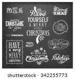 christmas design elements ... | Shutterstock .eps vector #342255773