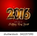 2016 happy new year and merry... | Shutterstock .eps vector #342257390