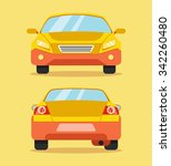 car front and rear. vector flat ...
