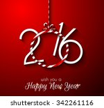 2016 happy new year and merry... | Shutterstock .eps vector #342261116