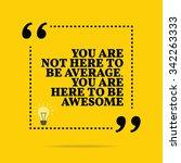 inspirational motivational... | Shutterstock .eps vector #342263333