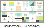collection of universal cards.... | Shutterstock .eps vector #342265826