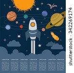 space  universe graphic design. ... | Shutterstock .eps vector #342269174