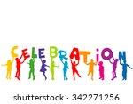 group of children silhouettes... | Shutterstock . vector #342271256