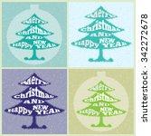 christmas tree. vector... | Shutterstock .eps vector #342272678