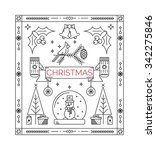 christmas celebration card   ... | Shutterstock .eps vector #342275846