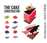 cake constructor sweet dessert... | Shutterstock .eps vector #342276848