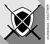 medieval shield emblem   Shutterstock .eps vector #342277859