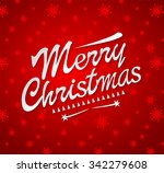 merry christmas typography.... | Shutterstock .eps vector #342279608