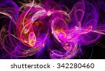 Colored Smoke. Spiral Nebula...