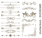 antique decorative elements ... | Shutterstock .eps vector #342282680