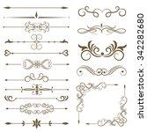 antique decorative elements ... | Shutterstock .eps vector #342282680