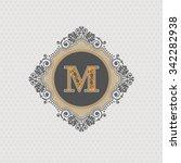 letter emblem m template ... | Shutterstock .eps vector #342282938