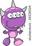 monster vector illustration | Shutterstock .eps vector #34228324