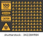 vector icn set triangle yellow...   Shutterstock .eps vector #342284984