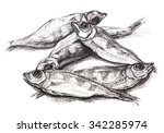 dried fish  grouper  ink | Shutterstock . vector #342285974