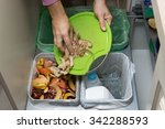 household waste sorting and...   Shutterstock . vector #342288593