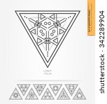 set of minimal  geometric... | Shutterstock .eps vector #342289904
