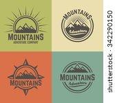 mountains set of four vector... | Shutterstock .eps vector #342290150