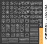 set of minimal  geometric... | Shutterstock .eps vector #342294266