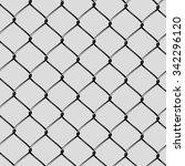 realistic steel netting cut | Shutterstock .eps vector #342296120