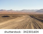 Dirt Road At High Altitude Wit...