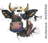 Cow Watercolor Graphics. Cow ...